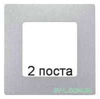 Рамка 2-ая Etika (алюминий) 672552