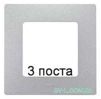 Рамка 3-ая Etika (алюминий) 672553