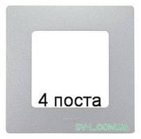 Рамка 4-ая Etika (алюминий) 672554