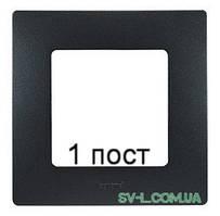 Рамка 1-ая Etika (антрацит) 672581