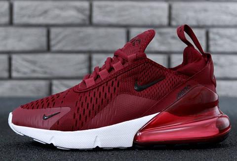 Кроссовки Nike Air Max 270 Bordo white. Топ качество! Живое фото (Реплика  ААА+) d3d2bf65884