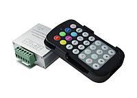 Контроллер светодиодной ленты RF RGB 18A 28 кнопок Черный пульт, фото 1
