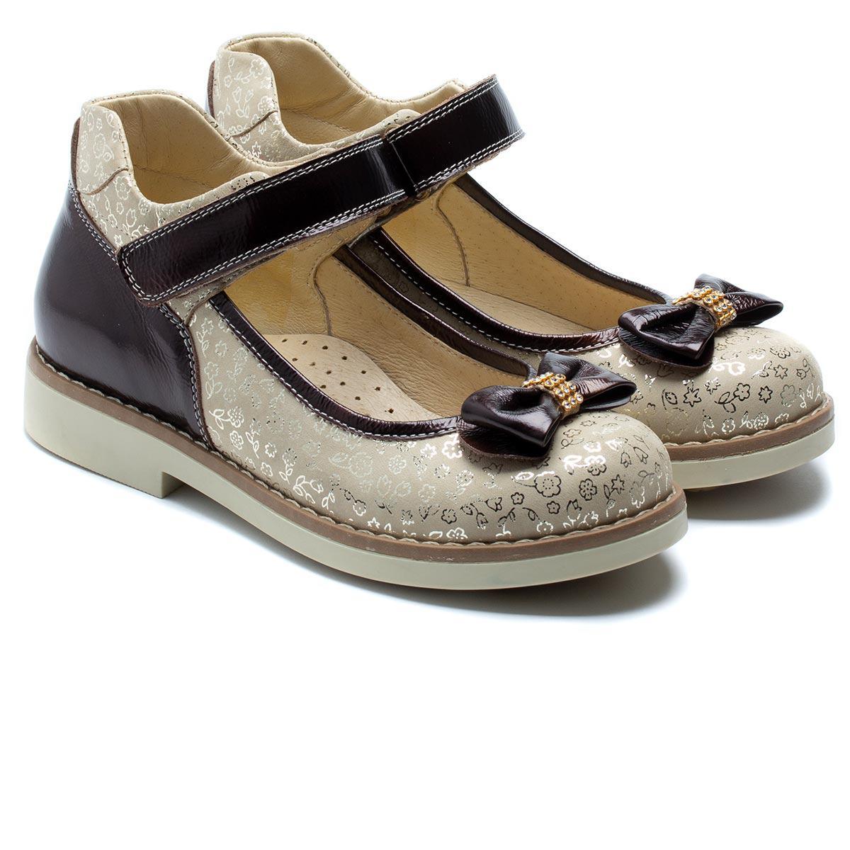 Кожаные, ортопедические туфли FS Сollection для девочки, размер 32