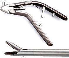 Лапароскопический иглодержатель с титановой V-образной ручкой и прямым наконечником, 5х330 мм LPM-0706.1