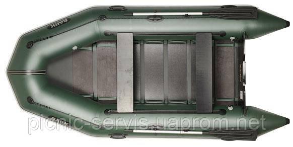 BARK ВТ-330D надувная лодка ПВХ моторная Четырехместная плоскодонная реечный настил + скользящие сиденья