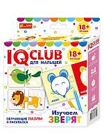 Навчальні пазли з розмальовкою .Вивчаємо зірят .IQ-club для малюків (рус.)13152033Р