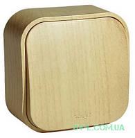 Проходной переключатель одноклавишный 10А Quteo (Дерево) 782264