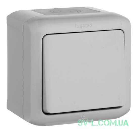 Проходной одноклавишный Выключатель IP44 (Серый) 782383