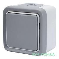 Выключатель-переключатель Plexo 10A, IP55 (цвет серый) 69711