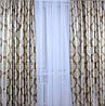 """Комплект готовых штор  блэкаут """"Корона"""" двусторонний. Цвет золотистый 154ш (А), фото 5"""