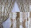 """Комплект готовых штор  блэкаут """"Корона"""" двусторонний. Цвет золотистый 154ш (А), фото 2"""