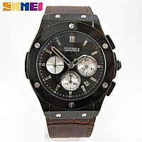 Часы Skmei 9157 Quartz Chronograph 44mm Black/Brown (Original 100%)., фото 1