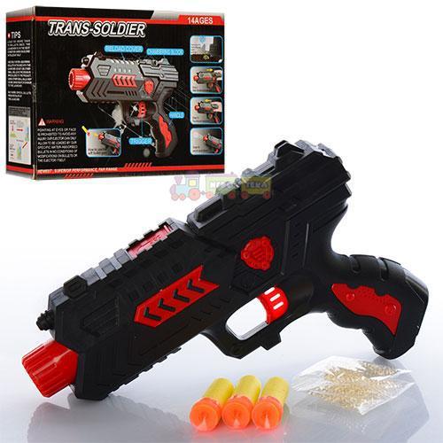 Пістолет 789-3B водяні кулі, кулі-присоски 3 шт., в коробці, 21-14-4,5 см