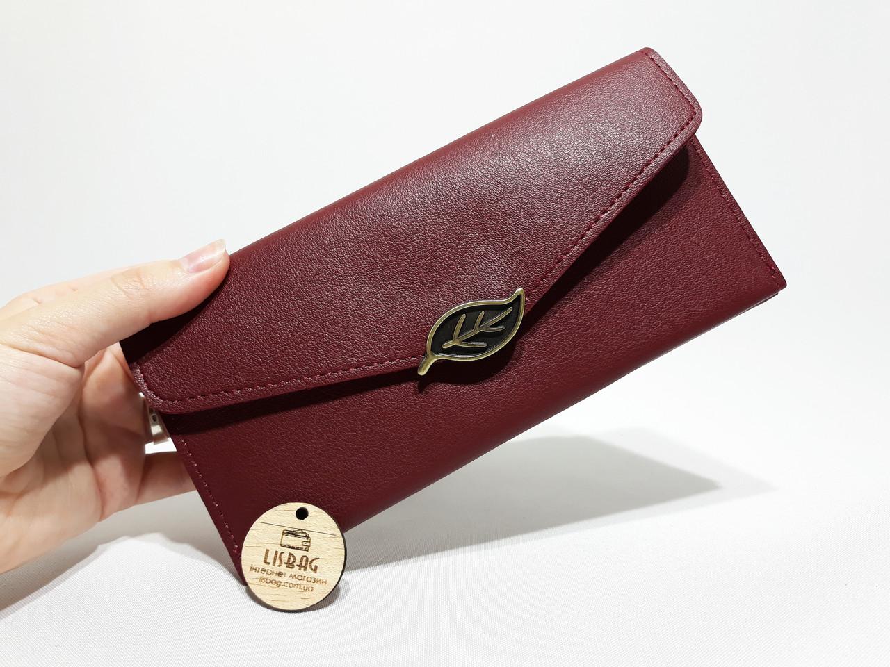 d88d4a85a4ed ... Бордовый женский классический кошелек клатч бордового цвета , фото 3 ...