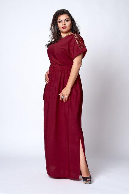 Красиве літнє святкове жіноче плаття з поясом 52-58