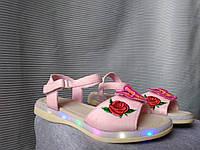 Босоножки оптом летняя обувь опт детская обувь вьетнамки шлепки шлепанцы весенняя обувь подсветка