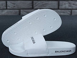 Сланцы Balenciaga Slippers all white. Живое фото. Топ качество! (Реплика ААА+)
