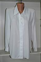 Женская блузка с длинным рукавом белого цвета, фото 1