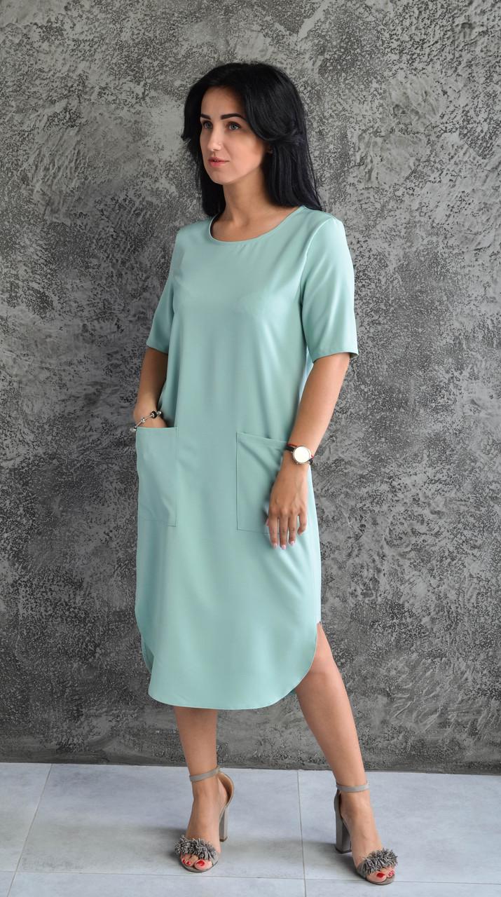 """Елегантна сукня """"218"""" Розміри 44-46."""