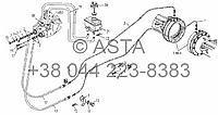 Рабочая тормозная система - трубопровод на YTO X704