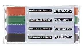 Маркер для досок набор 4 штуки BuroMax 8800