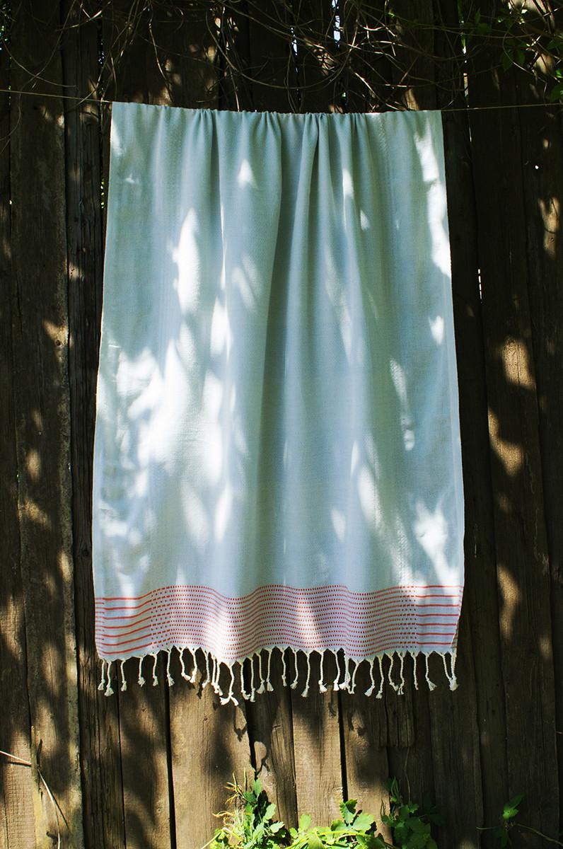 Полотенце-пештемаль пляжное Dots&Lines 100х180 голубой Barine