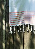 Полотенце-пештемаль пляжное Dots&Lines 100х180 голубой Barine, фото 2