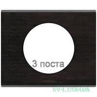 Рамка Сeliane венге трехместная 069203
