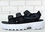 Мужские и женские сандалии Fila Sandals black/white. Живое фото. Топ качество! (Реплика ААА+), фото 3