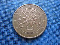 Монета 2 евроцента Австрия 2005