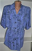 Женская блузка с коротким рукавом под пояс, фото 1