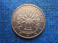 Монета 2 евроцента Австрия 2009