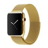 Ремешок для Apple Watch Milanese 38/42mm (Миланская петля) (Gold)