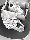 Женские кроссовки Fila Reflector White. Живое фото (Люкс реплика ААА+), фото 4