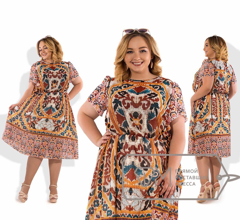 Шифоновое платье супер батал