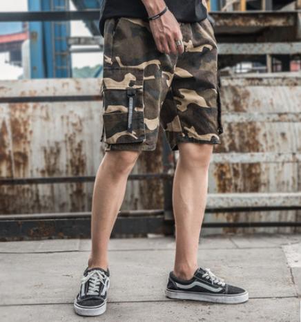 Камуфляжные мужские гетто шорты с боковыми карманами Nelly Kenny West
