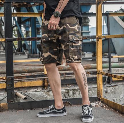 Камуфляжные мужские гетто шорты с боковыми карманами Nelly Kenny West, фото 2