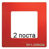 Рамка 2-ая Etika (красный) 672532