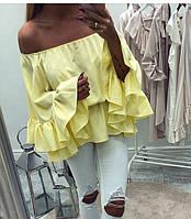 Блузка женская с рюшами  барх268, фото 1