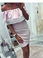 Платье женское с кружевом  барх266, фото 1