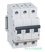 Автоматический выключатель RX3 3-полюсный 16А 419708