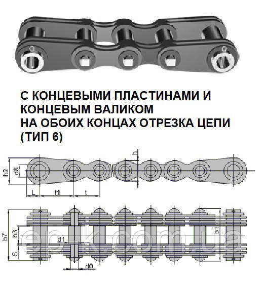 Цепи грузовые пластинчатые G 25-6-25