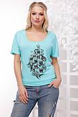 Річна жіноча футболка з віскози 48-54рр.