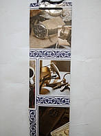 Пакет подарочный бумажный крафт бутылка 12х36х9 (25-043)
