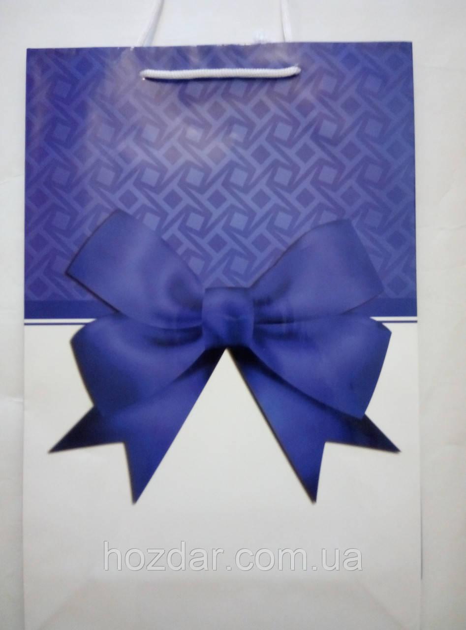 Пакет подарочный бумажный большой вертикальный 25х39х9 (27-090)