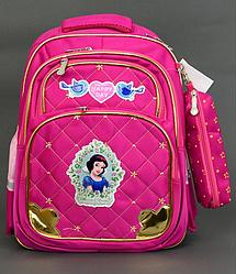 """Детский школьный рюкзак + ПЕНАЛ 40х30х20см """"БЕЛОСНЕЖКА"""" с ортопедической спинкой, портфель, ранец для девочки"""