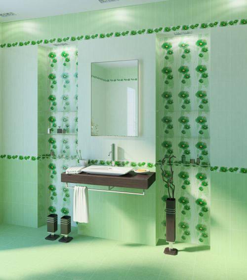 Плитка Golden Tile — Коллекция «Маргарита» (зелёный)
