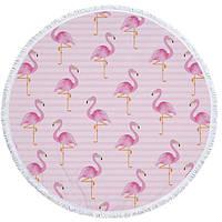 Пляжний Килимок РожевийФламінго(циновка для пляжу + парео) / Пляжный Коврик РозовыйФламинго
