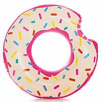 Надувной круг для плавания пончик Intex 56265: размер 107х99см, фото 1