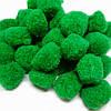Пом-пон 25мм искусственная шерсть для рукоделия цвет зеленый